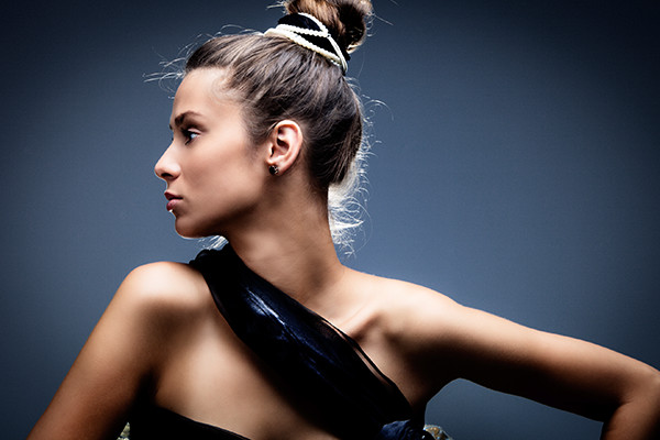 Hair Extensions In Pony Tail Bun
