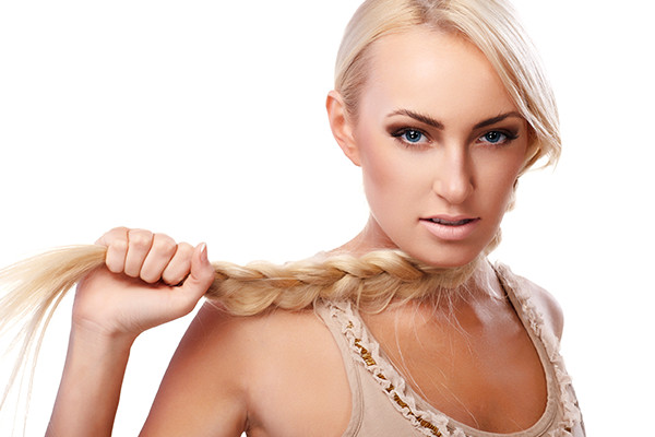 Blonde With Braided Hair Extensions
