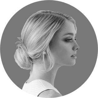 Black and White Portrait of Woman From Side FB