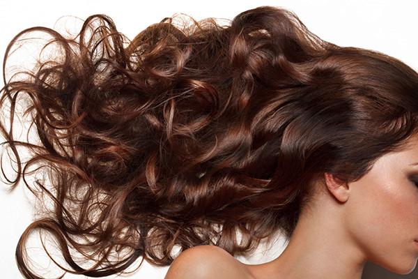 Girl Wearing Brown Hair Extensions