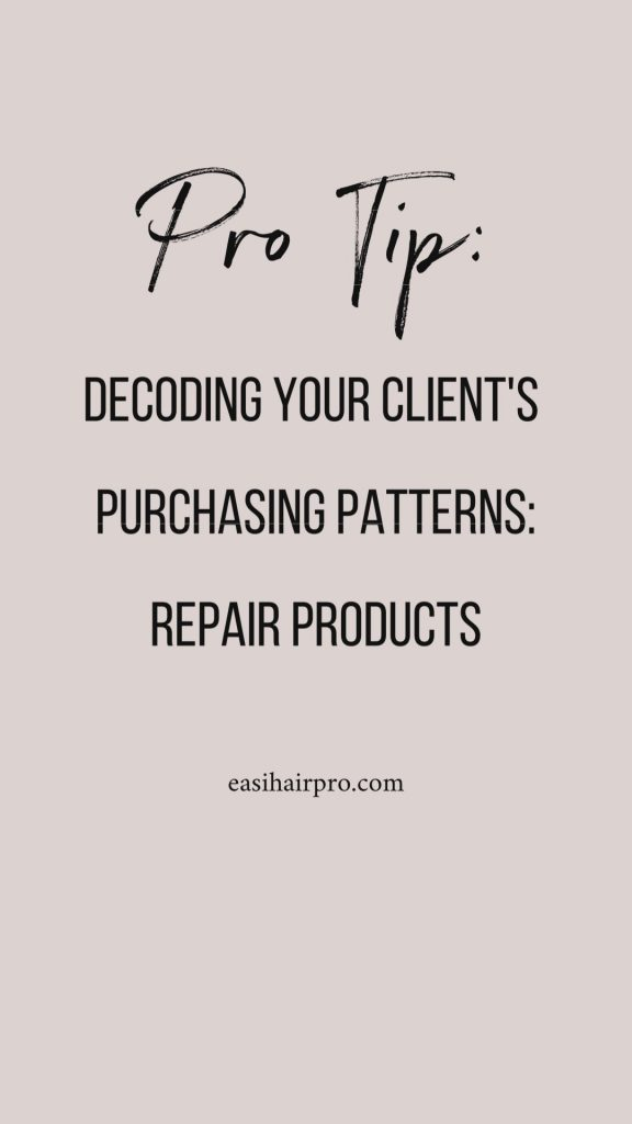 decoding client's purchasing patterns repair products