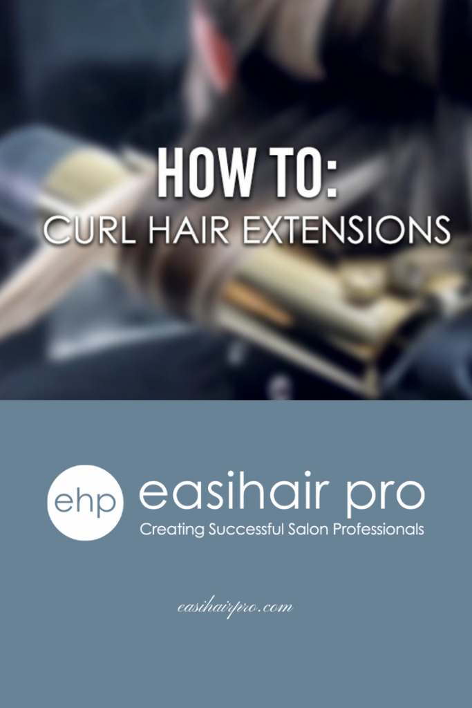 pin it how to curl hair extensions