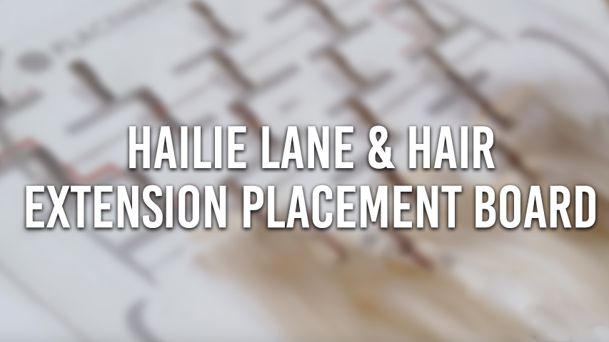 hair extension placement board with hailie lane