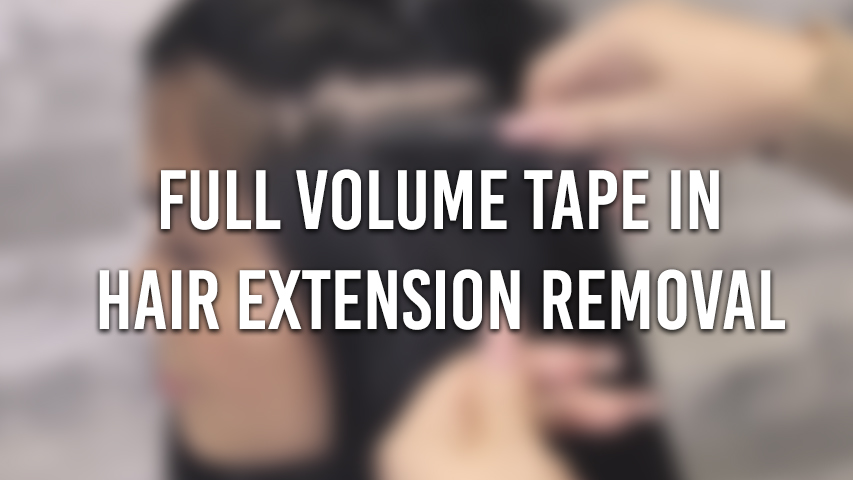 tape in hair extension removal